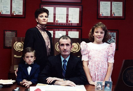 John McDonnell with his family; (l-r), Sean, Ellen, John, and Heather © Pryor Center for Arkansas Oral and Visual History, University of Arkansas