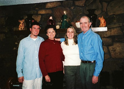 John McDonnell with his family: (l-r) Sean, Ellen, and Heather © Pryor Center for Arkansas Oral and Visual History, University of Arkansas