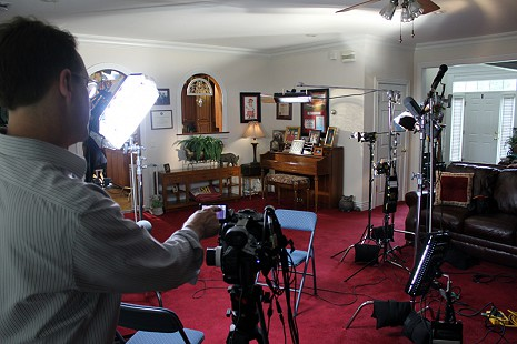 Behind-the-scenes photo from Pryor Center interview with John McDonnell; Fayetteville, Arkansas, 2010 © Pryor Center for Arkansas Oral and Visual History, University of Arkansas