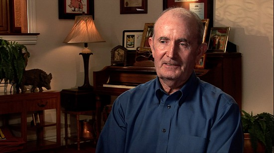 Still frame from Pryor Center video interview with John McDonnell; Fayetteville, Arkansas, 2010 © Pryor Center for Arkansas Oral and Visual History, University of Arkansas