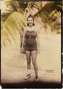 Hayden McIlroy Jr.'s mother, Corin Kays McIlroy, at the beach in Hollywood, Florida  © Pryor Center for Arkansas Oral and Visual History, University of Arkansas