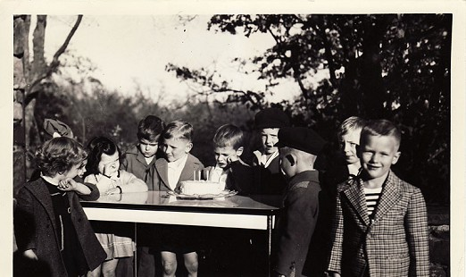 Hayden McIlroy (5th from right) and friends at his 5th birthday party; November 22, 1944 © Pryor Center for Arkansas Oral and Visual History, University of Arkansas