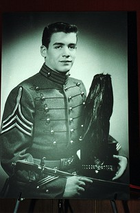 Hayden McIlroy in St. John's Military Academy dress uniform, senior year picture © Pryor Center for Arkansas Oral and Visual History, University of Arkansas