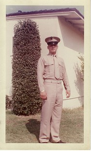 Hayden McIlroy in Marine Corps uniform, 1960 © Pryor Center for Arkansas Oral and Visual History, University of Arkansas