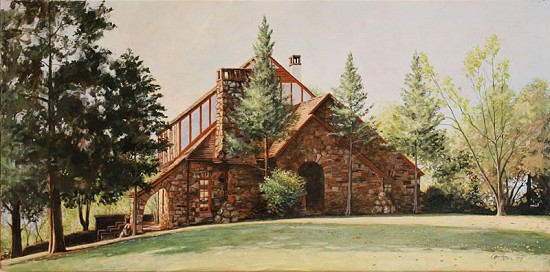 Painting of Hayden McIlroy Jr.'s childhood home, Fayetteville Arkansas © Pryor Center for Arkansas Oral and Visual History, University of Arkansas