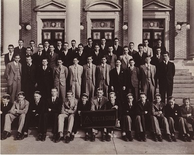 Frank McWilliams in Delta Sigma, an El Dorado High School fraternity; Dizzy Dean pictured top, center © Pryor Center for Arkansas Oral and Visual History, University of Arkansas