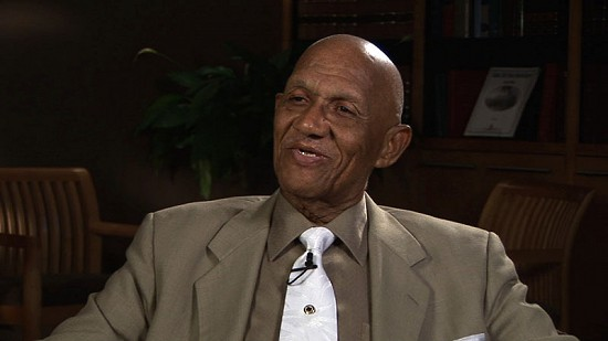 Still frame from Pryor Center interview with Christopher C. Mercer Jr. at the University of Arkansas; Fayetteville, Arkansas, 2006 © Pryor Center for Arkansas Oral and Visual History, University of Arkansas