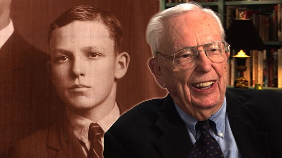 Composite image of early photo of Archie Monroe and still frame from Pryor Center video interview © Pryor Center for Arkansas Oral and Visual History, University of Arkansas