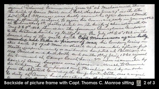 Back of previous image of Thomas Cooper Monroe, grandfather of Archie Monroe, image 2 of 3 © Pryor Center for Arkansas Oral and Visual History, University of Arkansas