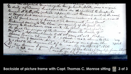 Back of previous image of Thomas Cooper Monroe, grandfather of Archie Monroe, image 3 of 3 © Pryor Center for Arkansas Oral and Visual History, University of Arkansas