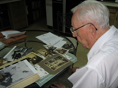 Behind-the-scenes photo from Pryor Center interview with Archie Monroe; Magnolia, Arkansas, 2008 © Pryor Center for Arkansas Oral and Visual History, University of Arkansas