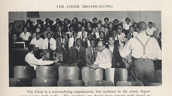 Gordon Morgan in the UAPB choir © Pryor Center for Arkansas Oral and Visual History, University of Arkansas
