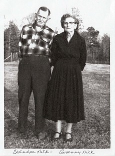 Dale Nicholson's grandparents, William Mayberry Nicholson and Cornelia Coopwood Nicholson © Pryor Center for Arkansas Oral and Visual History, University of Arkansas