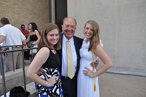 Dale Nicholson with his granddaughters, Cameryn and Meredith Miller © Pryor Center for Arkansas Oral and Visual History, University of Arkansas