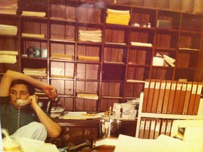 Jennings Osborne in his office, 1979 © Courtesy of the Osborne family; http://www.facebook.com/pages/Jennings-Osborne/223719354333000