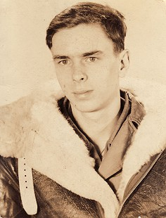 "Peggy Parks's brother, James ""Jimmy"" Ellis Murphy, in his World War II flight jacket © Pryor Center for Arkansas Oral and Visual History, University of Arkansas"