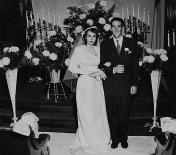 Peggy and Donald Parks on their wedding day © Pryor Center for Arkansas Oral and Visual History, University of Arkansas
