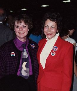 Peggy Murphy Parks (right) with Barbara Pryor © Pryor Center for Arkansas Oral and Visual History, University of Arkansas