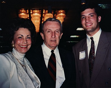 Peggy Murphy Parks with Senator Dale Bumpers and John Yates, a former student © Pryor Center for Arkansas Oral and Visual History, University of Arkansas