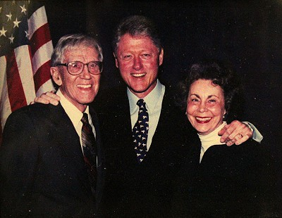 Donald and Peggy Parks with President Bill Clinton © Pryor Center for Arkansas Oral and Visual History, University of Arkansas