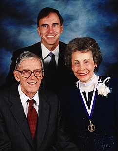 Donald, David, and Peggy Parks, when she was honored at the Fayetteville High School Hall of Fame banquet, 2003 © Pryor Center for Arkansas Oral and Visual History, University of Arkansas