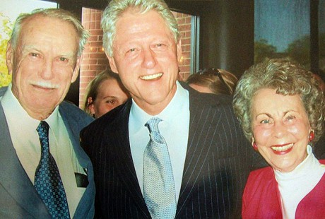 Peggy Murphy Parks and John Williams (left) with Bill Clinton © Pryor Center for Arkansas Oral and Visual History, University of Arkansas