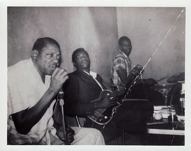 King Biscuit Entertainers: Sonny Boy Williamson, Frank Frost, Sam Carr © Pryor Center for Arkansas Oral and Visual History, University of Arkansas