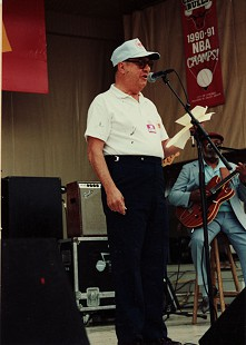 Sonny Payne with Robert Lockwood Jr. at the 1991 Chicago Blues Festival © Pryor Center for Arkansas Oral and Visual History, University of Arkansas