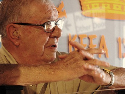 Sonny Payne at the KFFA studio, 2009 © Pryor Center for Arkansas Oral and Visual History, University of Arkansas