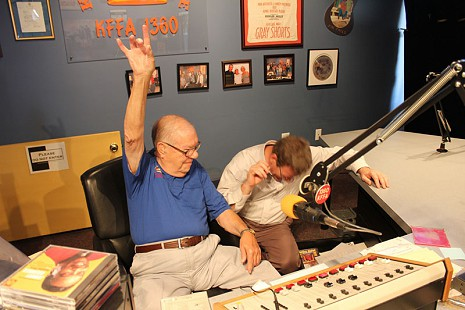 """Sunshine"" Sonny Payne in the KFFA studio; Delta Cultural Center; Helena-West Helena, Arkansas, 2011 © Pryor Center for Arkansas Oral and Visual History, University of Arkansas"