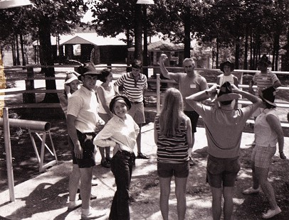 Stanley Reed (left, in hat) at camp in Hot Springs where he was a counselor © Pryor Center for Arkansas Oral and Visual History, University of Arkansas