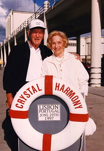 Doyle and Raye Rogers on a cruise ship in Lisbon, Portugal;  June 29, 1997 © Pryor Center for Arkansas Oral and Visual History, University of Arkansas