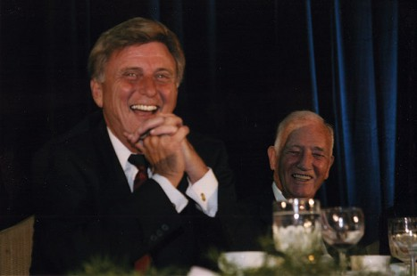 Doyle Rogers (right) with MIke Beebe, 2002 © Pryor Center for Arkansas Oral and Visual History, University of Arkansas