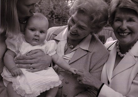 Four generations of Josephines: Josephine Raye Rogers, Barbara Josephine Rogers Hoover, Josephine Lasley Hoover Felton, and Catherine Josephine Felton © Pryor Center for Arkansas Oral and Visual History, University of Arkansas