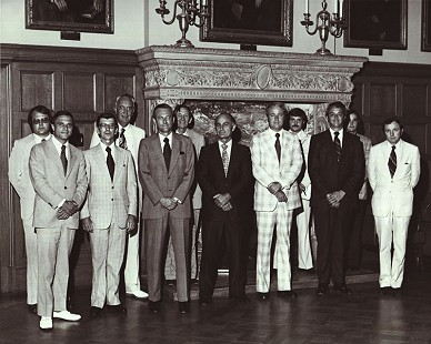 Charles Scharlau (front row, 3rd from left) with members of Governor David Pryor's Energy Commission © Pryor Center for Arkansas Oral and Visual History, University of Arkansas