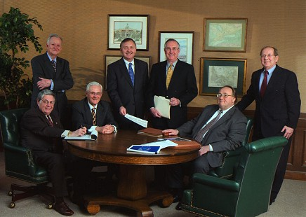 Charles Scharlau (seated, 2nd from left) with the Southwestern Energy Company board of directors, February 2004 © Pryor Center for Arkansas Oral and Visual History, University of Arkansas