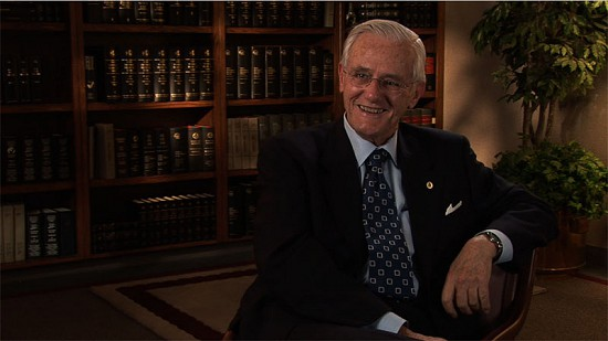 Still frame from Pryor Center video interview with Charles Scharlau at the Southwestern Energy Company building; Fayetteville, Arkansas, 2008 © Pryor Center for Arkansas Oral and Visual History, University of Arkansas