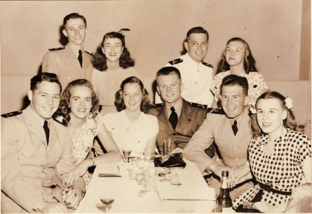 Couples' night at the Casino Royal, back row: Baylor Lansden, unknown, Roy Russell, unknown; front row: Clyde Scott, Leslie Hampton, Jane, Henry, Buddy McClure, unknown; Washington, DC, Summer 1946 © Pryor Center for Arkansas Oral and Visual History, University of Arkansas