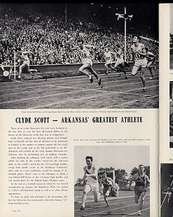 Clyde Scott article and photos from the University of Arkansas yearbook, 1948 © University of Arkansas