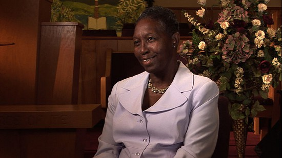 Still frame from Pryor Center video interview with Beatrice Clark Shelby at Pleasant Grove Missionary Baptist Church; Marvell, Arkansas, 2011 © Pryor Center for Arkansas Oral and Visual History, University of Arkansas