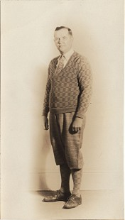 Curtis Shipley's father, Harry Shipley, in golf attire © Pryor Center for Arkansas Oral and Visual History, University of Arkansas