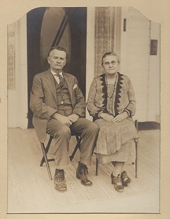 Curtis Shipley's paternal grandparents, William Lester Shipley and Juda Ellen Reed Shipley, 1938 © Pryor Center for Arkansas Oral and Visual History, University of Arkansas