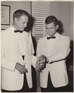 Curtis Shipley (right) and Tony Dyke, ca. 1950s © Pryor Center for Arkansas Oral and Visual History, University of Arkansas