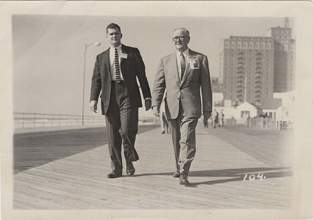 Curtis Shipley (left) with his father, Harry Shipley, in Atlantic City, New Jersey, 1955 © Pryor Center for Arkansas Oral and Visual History, University of Arkansas