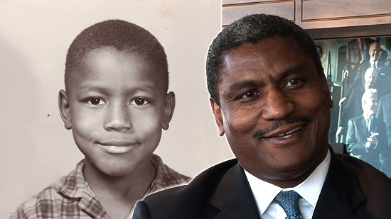Composite image of early photo of Rodney Slater and still frame from Pryor Center video interview © Pryor Center for Arkansas Oral and Visual History, University of Arkansas