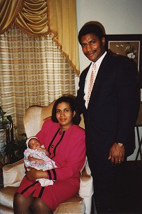 Rodney Slater with his wife, Cassandra, and their baby daughter © Pryor Center for Arkansas Oral and Visual History, University of Arkansas