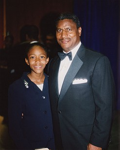 Rodney Slater with his daughter © Pryor Center for Arkansas Oral and Visual History, University of Arkansas