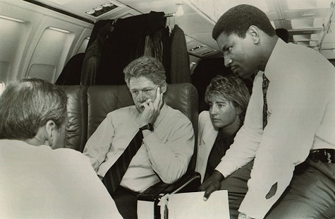 Rodney Slater with President Bill Clinton aboard Air Force One © Pryor Center for Arkansas Oral and Visual History, University of Arkansas