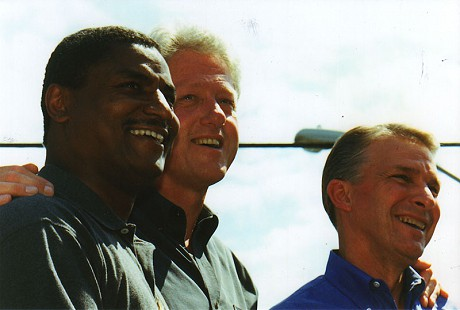 Rodney Slater with President Bill Clinton  © Pryor Center for Arkansas Oral and Visual History, University of Arkansas