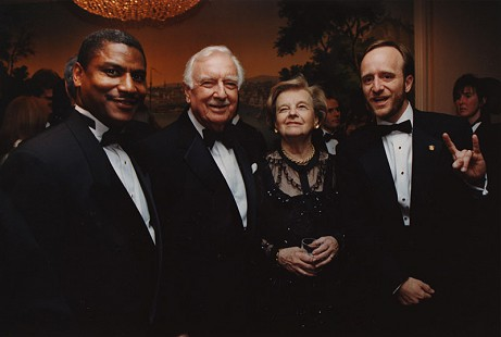 Rodney Slater with Walter Cronkite and Paul Begala (far right) © Pryor Center for Arkansas Oral and Visual History, University of Arkansas